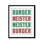 Burger Meister Meister Burger Framed Panel Print
