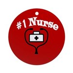 #1 Nurse Ornament (Round)