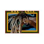 Conscious Rastafarian Culture Art Rectangle Magnet