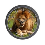 African Lion Wall Clock