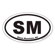 Stone Mountain SM Euro Oval Decal