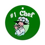 #1 Chef Ornament (Round)