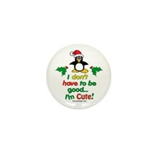 I'm Cute! Penguin Mini Button (10 pack)