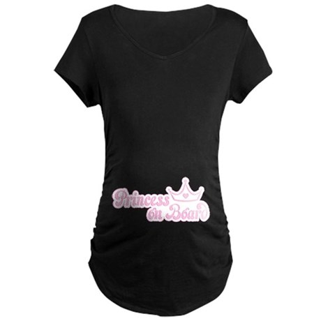 Princess on Board Maternity Dark T-Shirt