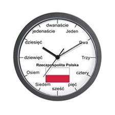 Polish Language Wall Clock