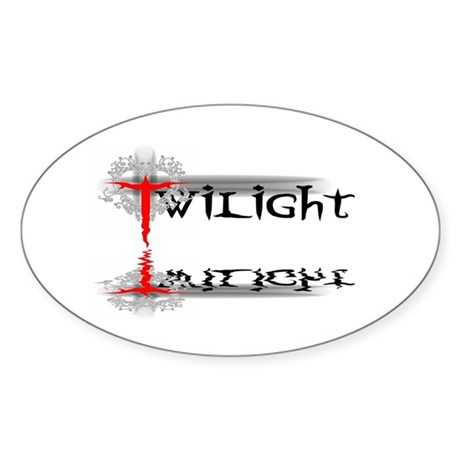 Twilight Reflections Oval Sticker
