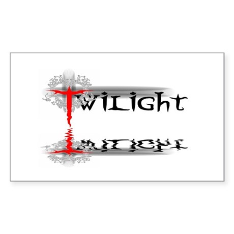 Twilight Reflections Rectangle Sticker