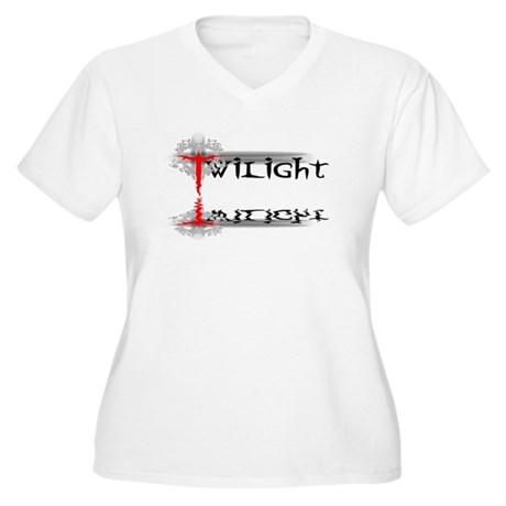 Twilight Reflections Women's Plus Size V-Neck T-Sh