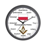 Polish Language Masons Wall Clock