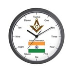 Indian Masons Wall Clock