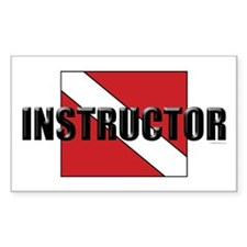 Dive Instructor Rectangle Decal