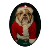 Bulldog xmas Oval Ornaments