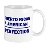 Puerto Rican + American nationalitiy Small Mug