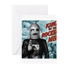 King of the Rocket Men Greeting Card