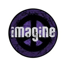 "Imagine Peace Vintage 3.5"" Button"