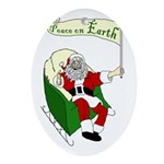Santa: Peace on Earth Xmas Ornament