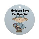 Autistic Girl Ornament (Round)
