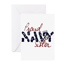 Proud Navy Sister Greeting Cards (Pk of 10)