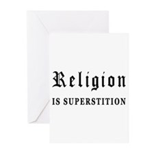 Religion is Superstition Greeting Cards (Pk of 10)