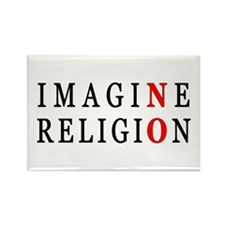 Imagine No Religion Rectangle Magnet