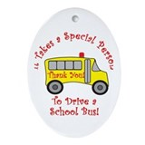 School Bus Driver Ornament (Oval)