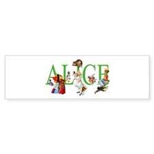 ALICE IN WONDERLAND & FRIENDS Bumper Bumper Sticker