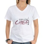 Red Executive Chef Women's V-Neck T-Shirt