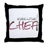 Red Executive Chef Throw Pillow