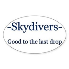 Skydivers Oval Decal