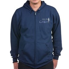 Blue Executive Chef Zip Hoodie