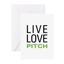 Live Love Pitch Greeting Cards (Pk of 20)