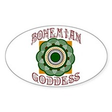 Bohemian Chic Oval Decal
