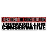 Conservative Constitution Bumper Car Sticker