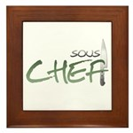 Green Sous Chef Framed Tile