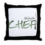 Green Sous Chef Throw Pillow