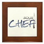 Blue Sous Chef Framed Tile