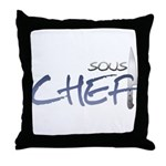 Blue Sous Chef Throw Pillow