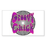 Groovy Chick Rectangle Decal