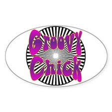 Groovy Chick Oval Decal