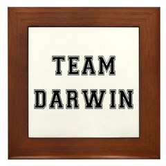 Team Darwin Framed Tile