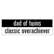"""dad of twins"" Bumper Stickers"