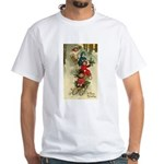 Christmas Sledding White T-Shirt