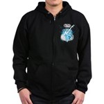 Rock N' Roll Death Crest Zip Hoodie (dark)