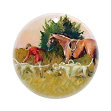 Hunt Landscape, V - Ornament (Round)