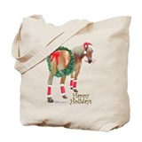 Christmas Draft Horse Belgian Tote Bag