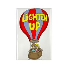 Lighten Up Rectangle Magnet