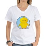 Whee! Chick v2.0 Women's V-Neck T-Shirt