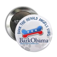 Bark Obama Christmas Carol button