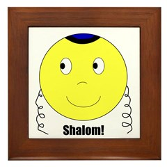 Jewish Rabbi Smiley Face Framed Tile