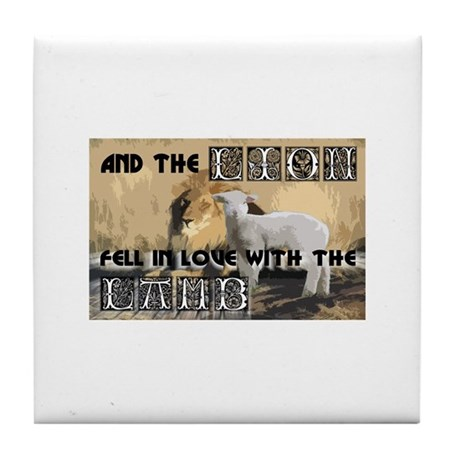 Twilight Movie Lion Lamb Tile Coaster